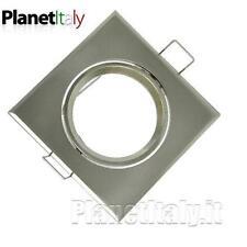 20pz soporte de proyector foco agujero empotrable 70mm acero satinado cuadrado