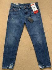 "Diesel Men's MHARKY Slim-Skinny Distressed Blue Jeans, Size W36"", L30"", £160"