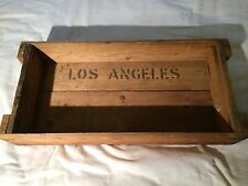 Vintage Wooden Crate Shelf Wall Hanging Rustic Antique Los Angeles