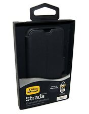 Genuine OtterBox Strada for iPhone X XS Leather Flip Folio Case Cover Black NEW