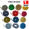 10mm Braided Cotton Rope 100% Natural Pure Multi-coloured 8 Strand Craft Decor