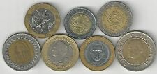 7 BI-METAL COINS from 7 DIFFERENT COUNTRIES (ARGENTINA to VENEZUELA) - Lot #1