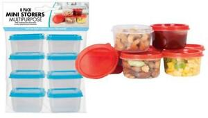 Mini Food Storage Pots Baby Weaning Snack Container - 8 Pack
