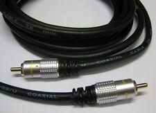 HQ Digital Audio Coaxial Lead Cable SPDIF 3m