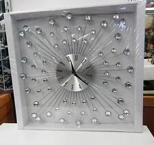 STARBURST METAL/ACRYLIC WALL CLOCK - WITH GLASS-LIKE ENDS 66983