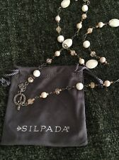 Silpada Necklace N1504 Oxidized Sterling Silver, Mother-of-Pearl