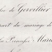 Charles Raoul Thiroux De Gervillier  Alexandra De Looz-Corswarem D'Ahin 1866