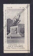 COMO CERNOBBIO 16  MONUMENTO ai CADUTI Erinnofilo Chiudilettera 1921-25