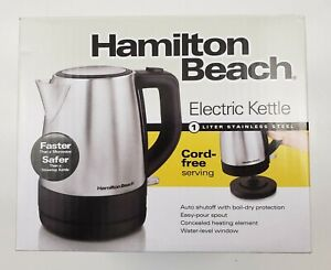 Hamilton Beach Electric Kettle - Stainless Steel - 1 Liter - Electric Cordless