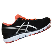 ASICS WOMENS Shoes Gel-Zaraca 5 - Onyx, Silver & Flash Coral - T6G8N-9906
