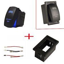 MICTUNING 12V Car Blue LED Light Bar Laser Rocker Switch + Mount Holder Case Box