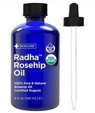 Radha Beauty Rosehip Oil Usda Certified Organic 4 oz 100 Pure Cold