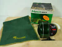 VINTAGE JOHNSON 130B SABRA MADE IN USA Rare Fishing Reel Works In Box