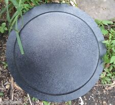 """plain stepping stone plastic mold 9"""" x  1.5"""" thick"""