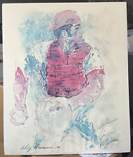 Signed Serigraph by LeRoy Neiman Art Johnny Bench 1970 Unframed
