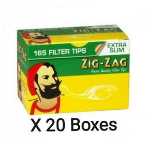 3300 x Zig Zag Extra Slim Filter Tips Boxed (20 Boxes x 165 Tips) Ultra Cheap