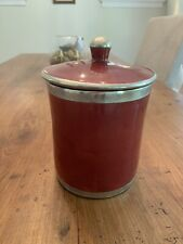 Safi Jar With Lid- Red, Made Of Clay And Metal