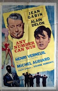 ANY NUMBER CAN WIN Original Int'l Style One Sheet movie poster 27x41 Film 1963