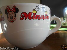 Minnie Mouse Collector Soup Mug 24 oz. Disney Stoneware White Red Black !