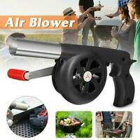 Outdoor Cooking BBQ Fan Air Blower For Barbecue Fire Bellows Hand Tool Cran D7B1
