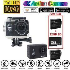 Sony IMX179 4K SJ8000 30 fps  WiFi Sports Action Camera+2X Battery+32GB A26B