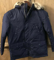 Ralph Lauren Boy Snorkel Faux Fur Polo Down Puffer Winter Jacket Coat MEDIUM NWT