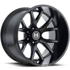 """4ea 20x10"""" Hostile Wheels H113 Rage Asphalt Satin Black Off Road Rims(S9)"""
