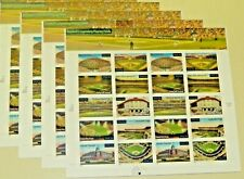 Four x 20 = 80 BASEBALL'S LEGENDARY PLAYING FIELDS 34¢ Postage Stamps 3510-3519