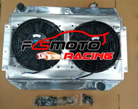 3 ROW Aluminum Radiator+Shroud+Fans For Holden HQ HJ HX HZ V8 CHEV engine AT