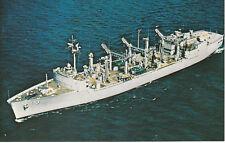 NAVAL MILITARY POSTCARD UNUSED U.S.S. KANSAS CITY AOR-3 - NAVY SHIP
