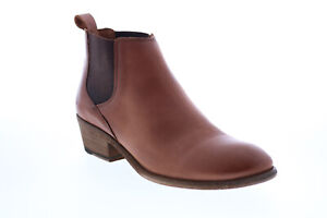 Frye Carson Chelsea 71535 Womens Brown Leather Slip On Ankle & Booties Boots