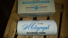 Vintage Sanborn Metagraph Recording Paper for use with Metabulator Waltham Mass.