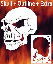 Skull 16 Airbrush Stencil Spray Vision Template air brush