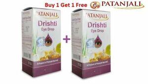 Drishti Eye Drops 2 Packs x 10ml Patanjali  Eye Care Herbal Ayurveda Free Ship