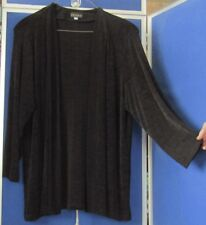 EUC Wardrobe Staple PICADILLY Black OPEN Front TUNIC TOP Great TRAVELER Sz XL