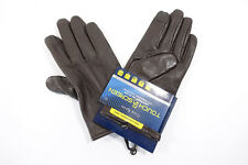 CLUB ROOM BROWN LARGE LEATHER CASHMERE TOUCH SCREEN TECH GLOVES MENS NWT NEW