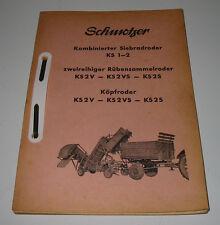 Ersatzteilliste Schmotzer Kombinierter Siebraroder KS 1-2 Rübensammelroder KS2V!