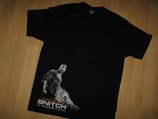 Dwayne Johnson Snitch Tee - The Rock Wrestler 2013 Action Movie Promo T Shirt Lg