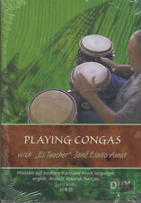 Playing Congas Jose Eladio Amat Learn How to Play Tuition DVD