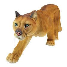 Wild Cat on the Prowl Cougar Mountain Lion Garden Feline Statue Sculpture