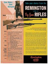 1 Sheet Flyer for Remington Model 700 Big Game Rifle circa 1960s