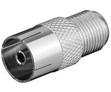 goobay sat adapter verbinder f buchse female an iec 9,5mm koax koaxial kupplung