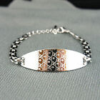 18k white Gold plated with Swarovski crystals elegant bangle bracelet