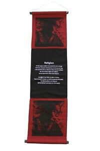 """Hanging Scroll """"Dalai Lama"""" - Inspirational Quote, Words of Affirmation, Red"""