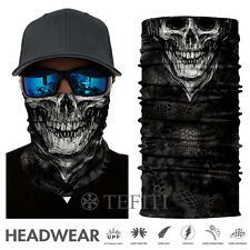Black Tactical Skull Face Shield Sun Mask Balaclava Neck Gaiter CLOWN UV Fishing