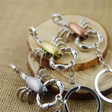 Mini Scorpion Model Metal Key chain Creative Gift Keyring Keychain ring Pendant