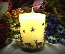 Christmas Silicone Pillar Candle Mold-Reindeer,Stars, Xmas Trees 5.5CM x 7.5CM
