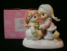 Precious Moments-Girl/Snowman-Warm th Of Christmas/Heart (color of box may vary)