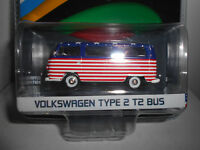 VOLKSWAGEN T2 TYPE 2 BUS USA OLYMPIC RIO 2016 GREENLIGHT 1:64