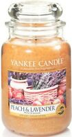 Yankee Candle  Large Jar - Brand New 22oz USA Treasures - Peach and Lavender